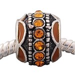 Gold  Crystal Ball - (3 Beads)