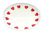 Red Heart Valentine Plate