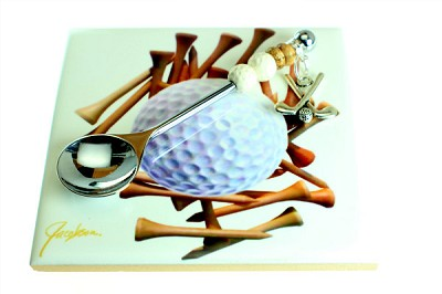 Golf Ceramic Trivet & Spoon - (1 Set) - SORRY SOLD OUT