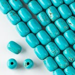 10x14mm Turquoise Howlite Barrel - (1 Strand)