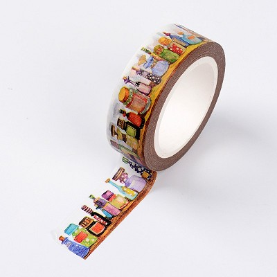 Perfume Bottles Scrapbook Tape (Approx. 5 meter roll)