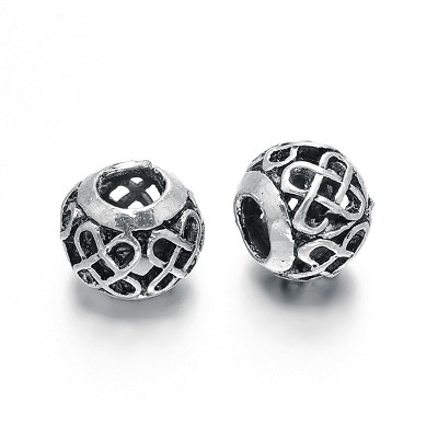 11mm Swirly Do Metal Bead - (5 Beads)